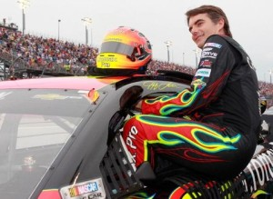 Jeff Gordon showing you how I had to enter and exit my vehicle